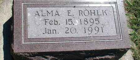 ROHLK, ALMA E. - Ida County, Iowa | ALMA E. ROHLK