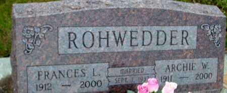 ROHWEDDER, ARCHIE & FRANCES L. - Ida County, Iowa   ARCHIE & FRANCES L. ROHWEDDER