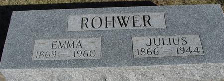 ROHWER, JULIUS & EMMA - Ida County, Iowa   JULIUS & EMMA ROHWER