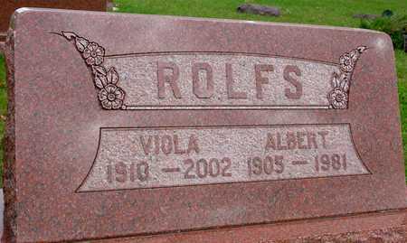 ROLFS, ALBERT & VIOLA - Ida County, Iowa   ALBERT & VIOLA ROLFS