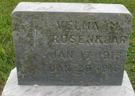 ROSENKJAR, VELMA M. - Ida County, Iowa   VELMA M. ROSENKJAR