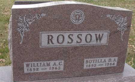 ROSSOW, WM. A.C. & BOTILLA - Ida County, Iowa   WM. A.C. & BOTILLA ROSSOW