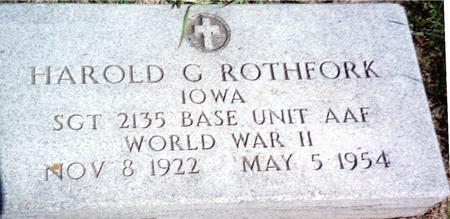 ROTHFORK, HAROLD  G. - Ida County, Iowa   HAROLD  G. ROTHFORK
