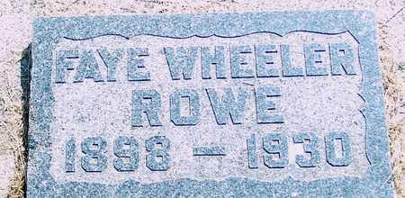 ROWE, FAYE - Ida County, Iowa | FAYE ROWE