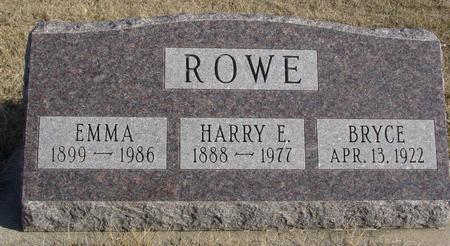 ROWE, HARRY & EMMA - Ida County, Iowa | HARRY & EMMA ROWE