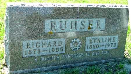 RUHSER, RICHARD & EVALINE - Ida County, Iowa   RICHARD & EVALINE RUHSER