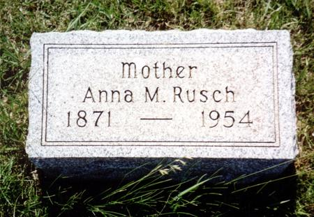 RUSCH, ANNA M. - Ida County, Iowa | ANNA M. RUSCH