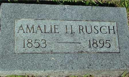 RUSCH, AMALIE H. - Ida County, Iowa   AMALIE H. RUSCH