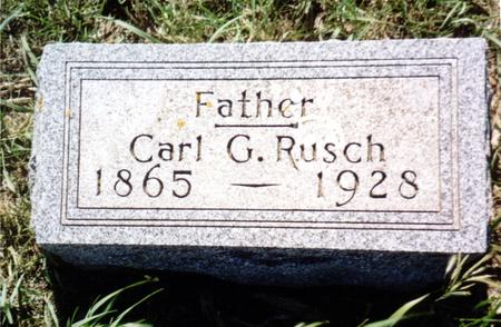 RUSCH, CARL G. - Ida County, Iowa | CARL G. RUSCH