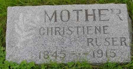 RUSER, CHRISTIENE - Ida County, Iowa | CHRISTIENE RUSER