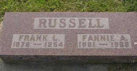 RUSSELL, FANNIE A. - Ida County, Iowa | FANNIE A. RUSSELL