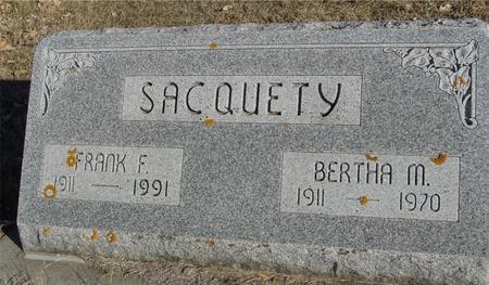 SACQUETY, FRANK & BERTHA - Ida County, Iowa | FRANK & BERTHA SACQUETY