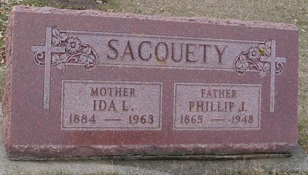 SACQUETY, PHILLIP & IDA L. - Ida County, Iowa | PHILLIP & IDA L. SACQUETY