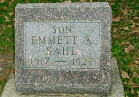 SAHL, EMMETT K. - Ida County, Iowa | EMMETT K. SAHL