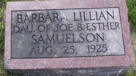 SAMUELSON, BARBARA LILLIAN - Ida County, Iowa | BARBARA LILLIAN SAMUELSON