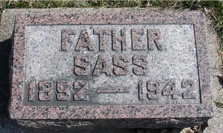 SASS, AUGUST, FATHER - Ida County, Iowa   AUGUST, FATHER SASS