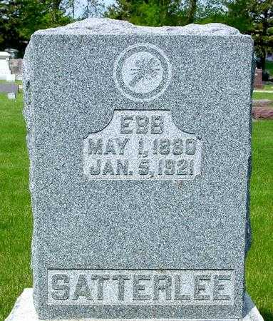 SATTERLEE, EBB - Ida County, Iowa   EBB SATTERLEE