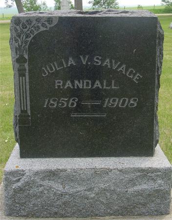 RANDALL SAVAGE, JULIA V. - Ida County, Iowa   JULIA V. RANDALL SAVAGE