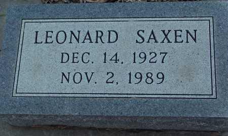 SAXEN, LEONARD - Ida County, Iowa   LEONARD SAXEN