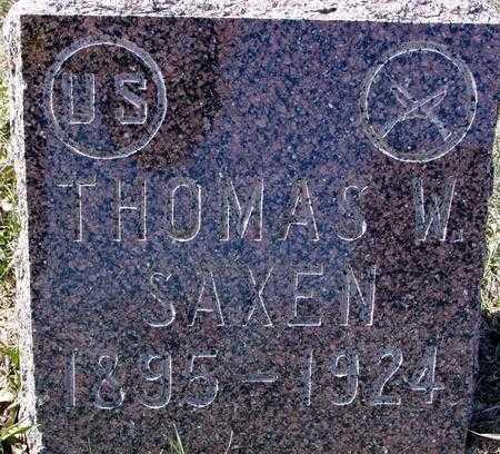 SAXEN, THOMAS W. - Ida County, Iowa | THOMAS W. SAXEN