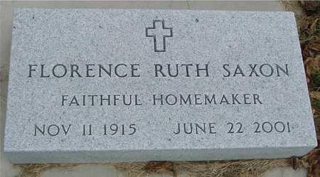 SAXON, FLORENCE RUTH - Ida County, Iowa   FLORENCE RUTH SAXON