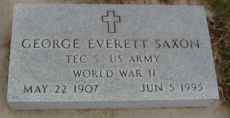 SAXON, GEORGE EVERETT - Ida County, Iowa | GEORGE EVERETT SAXON