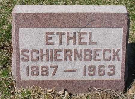 SCHIERNBECK, ETHEL - Ida County, Iowa   ETHEL SCHIERNBECK