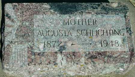 SCHLICHTING, AUGUSTA - Ida County, Iowa   AUGUSTA SCHLICHTING