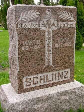 SCHLINZ, HENRY & MARTHA - Ida County, Iowa   HENRY & MARTHA SCHLINZ