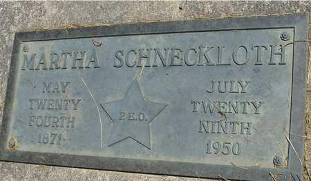 SCHNECKLOTH, MARTHA - Ida County, Iowa   MARTHA SCHNECKLOTH