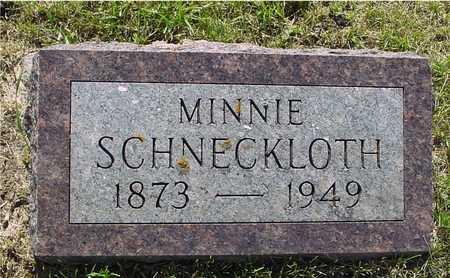 SCHNECKLOTH, MINNIE - Ida County, Iowa | MINNIE SCHNECKLOTH
