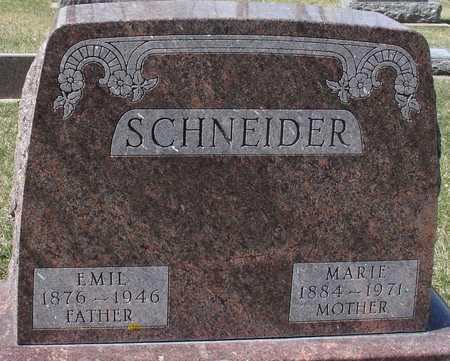 SCHNEIDER, EMIL & MARIE - Ida County, Iowa   EMIL & MARIE SCHNEIDER
