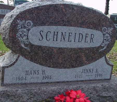 SCHNEIDER, HANS H. & JENNY - Ida County, Iowa   HANS H. & JENNY SCHNEIDER