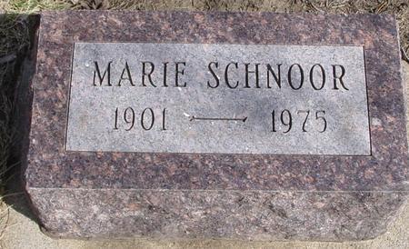 SCHNOOR, MARIE - Ida County, Iowa | MARIE SCHNOOR