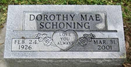 SCHONING, DOROTHY MAE - Ida County, Iowa | DOROTHY MAE SCHONING
