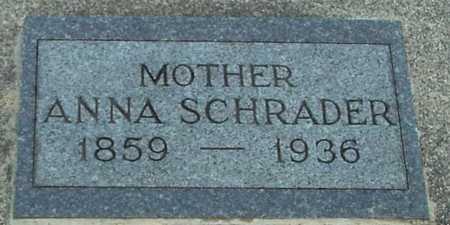 SCHRADER, ANNA - Ida County, Iowa   ANNA SCHRADER