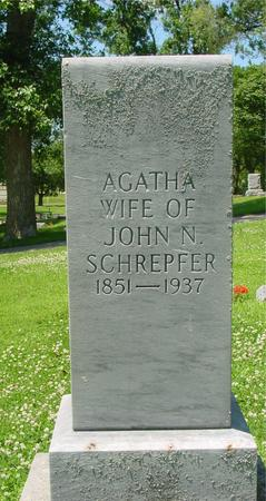 LEIHOLD SCHREPFER, AGATHA - Ida County, Iowa | AGATHA LEIHOLD SCHREPFER