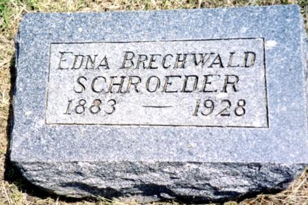 BRECHWALD SCHROEDER, EDNA - Ida County, Iowa | EDNA BRECHWALD SCHROEDER