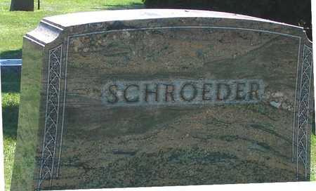 SCHROEDER, FAMILY MARKER - Ida County, Iowa   FAMILY MARKER SCHROEDER