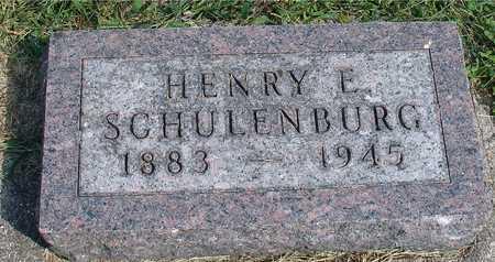 SCHULENBURG, HENRY E. - Ida County, Iowa   HENRY E. SCHULENBURG