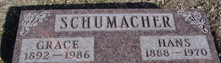 SCHUMACHER, HANS & GRACE - Ida County, Iowa   HANS & GRACE SCHUMACHER