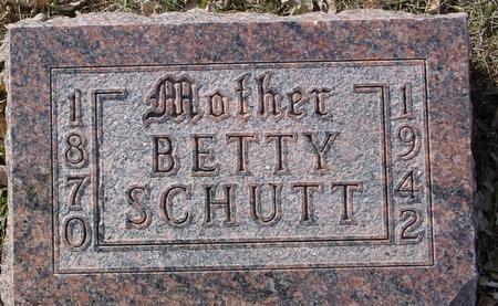 SCHUTT, BETTY - Ida County, Iowa   BETTY SCHUTT