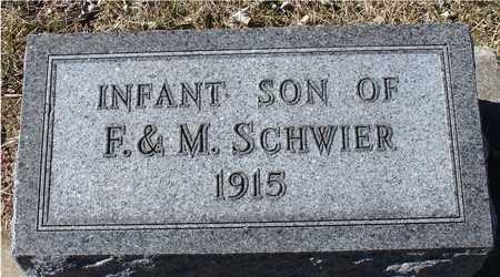 SCHWIER, INFANT - Ida County, Iowa | INFANT SCHWIER