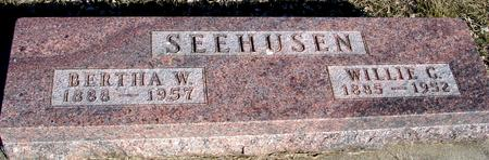 SEEHUSEN, WILLIE & BERTHA - Ida County, Iowa | WILLIE & BERTHA SEEHUSEN