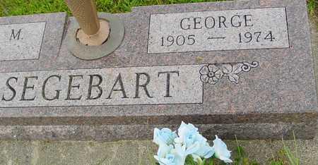 SEGEBART, GEORGE - Ida County, Iowa   GEORGE SEGEBART