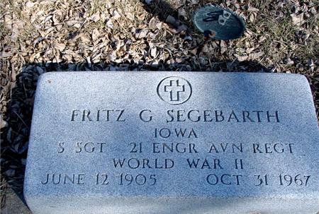 SEGEBARTH, FRITZ G. - Ida County, Iowa | FRITZ G. SEGEBARTH