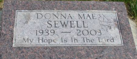 SEWELL, DONNA MAE - Ida County, Iowa   DONNA MAE SEWELL