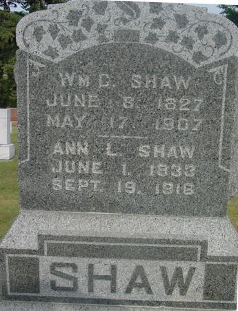SHAW, WILLIAM C. & ANN - Ida County, Iowa | WILLIAM C. & ANN SHAW