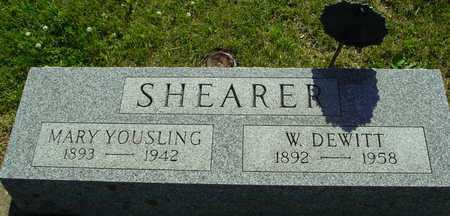 SHEARER, W. DEWITT & MARY - Ida County, Iowa   W. DEWITT & MARY SHEARER