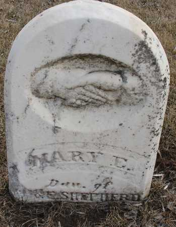 SHEPHERD, MARY E. - Ida County, Iowa   MARY E. SHEPHERD